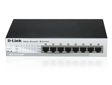 d link 8 port 10 100 poe web smart iii switch. Black Bedroom Furniture Sets. Home Design Ideas